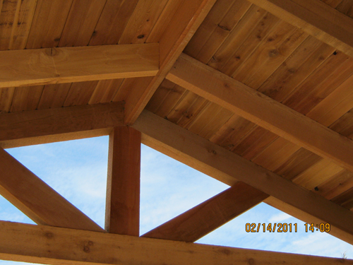 Cedar Cooking Area - Roof