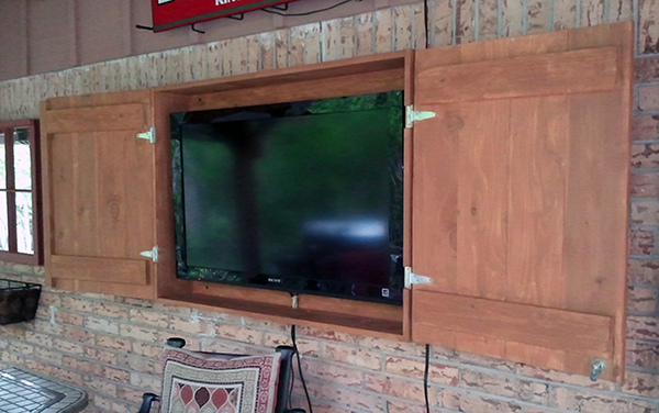 Custom TV Cabinet Open